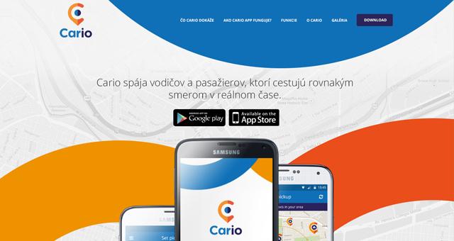 Cario landing page