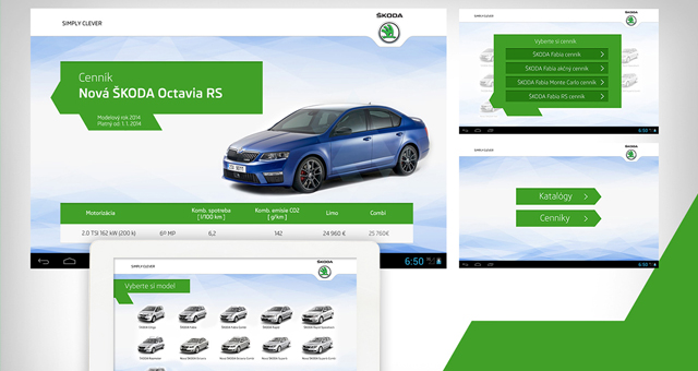 Škoda autosalón app